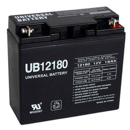 12 Volt 18 ah UPS Battery replaces 17ah Vision CP12170, CP 12170