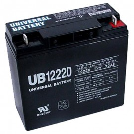 12 Volt 22 ah UPS Battery replaces 20ah Vision CP12200, CP 12200