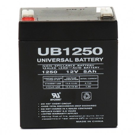 12v 5ah UPS Battery replaces Power-Sonic PS-1250 F2, PS1250 F2