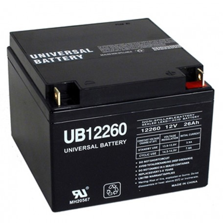 12v 26ah UPS Battery replaces Power-Sonic PS-12260 NB, PS12260