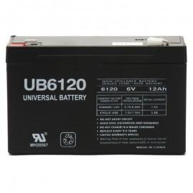 6v 12ah UPS Battery replaces Union Battery MX-06120 F2, MX06120 F2
