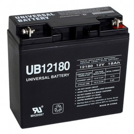 12v 18ah UPS Battery replaces 17ah Union Battery MX-12180, MX12180
