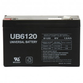6 Volt 12ah UPS Battery replaces Johnson Controls GC6120 F2