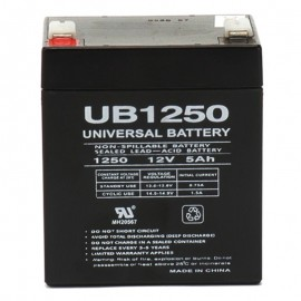 12v 5a UPS Battery for 4.5a Genesis NP4.5-12T, NP 4.5-12T .250 term