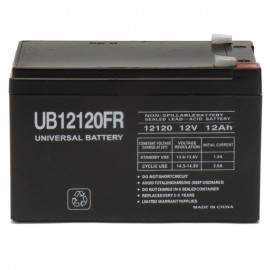12v 12ah Flame Retardant UPS Battery replaces Genesis NP12-12TFR