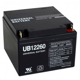 12v 26 ah UPS Backup Battery replaces MK Battery ES26-12, ES 26-12