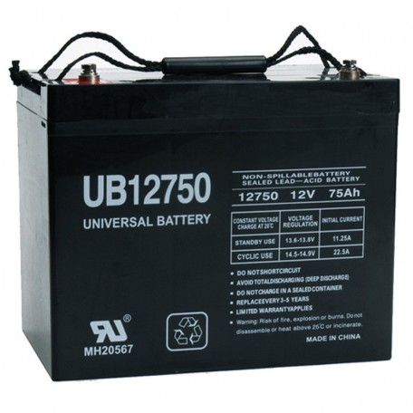 12v 75a UB12750 UPS Battery replaces Alpha Cell 135 AGM-P, 135AGM-P
