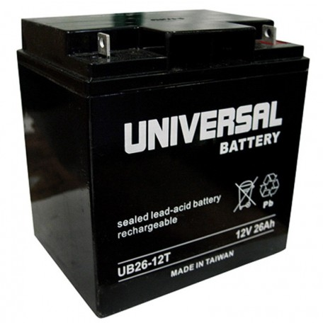 12v 26ah UB12260T UPS Battery replaces C&D Dynasty UPS12-100
