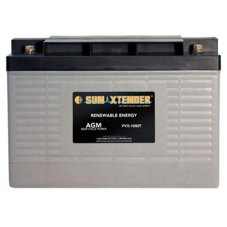 12v 108ah Deep Cycle Concorde Sun Xtender PVX-12105T Solar Battery