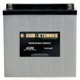 12v 56ah Deep Cycle Concorde Sun Xtender PVX-1255T Solar Battery