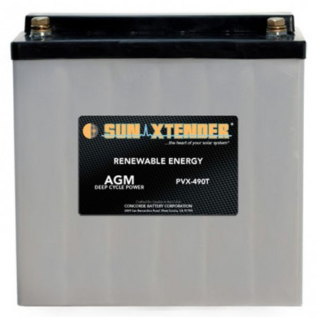 12v 49ah Deep Cycle Concorde Sun Xtender PVX-490T Solar Battery