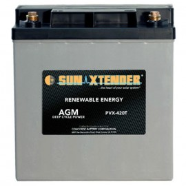 12v 42ah Deep Cycle Concorde Sun Xtender PVX-420T Solar Battery