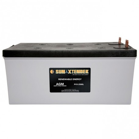 12v 258ah 8D Deep Cycle Sun Xtender PVX-12255L SCADA Solar Battery