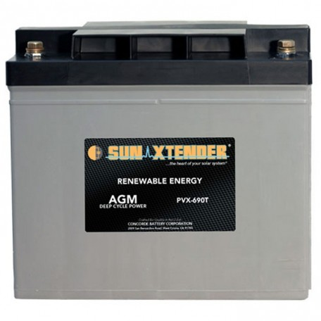 12v 69ah Deep Cycle Sun Xtender PVX-690T SCADA Solar Battery