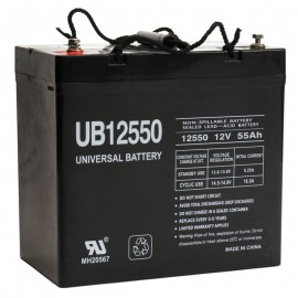 12v 55ah UPS Battery replaces 200 watt Fiamm 12 FLB 200, 12FLB200