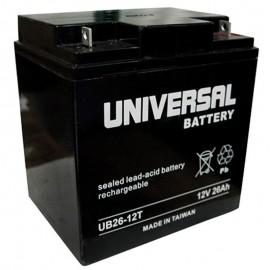 12v 26ah UB12260T UPS Battery replaces Leoch DJW12-24H, DJW 12-24H