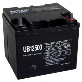 12v 50ah UPS Battery replaces 38ah Leoch DJM1238, DJM12-38
