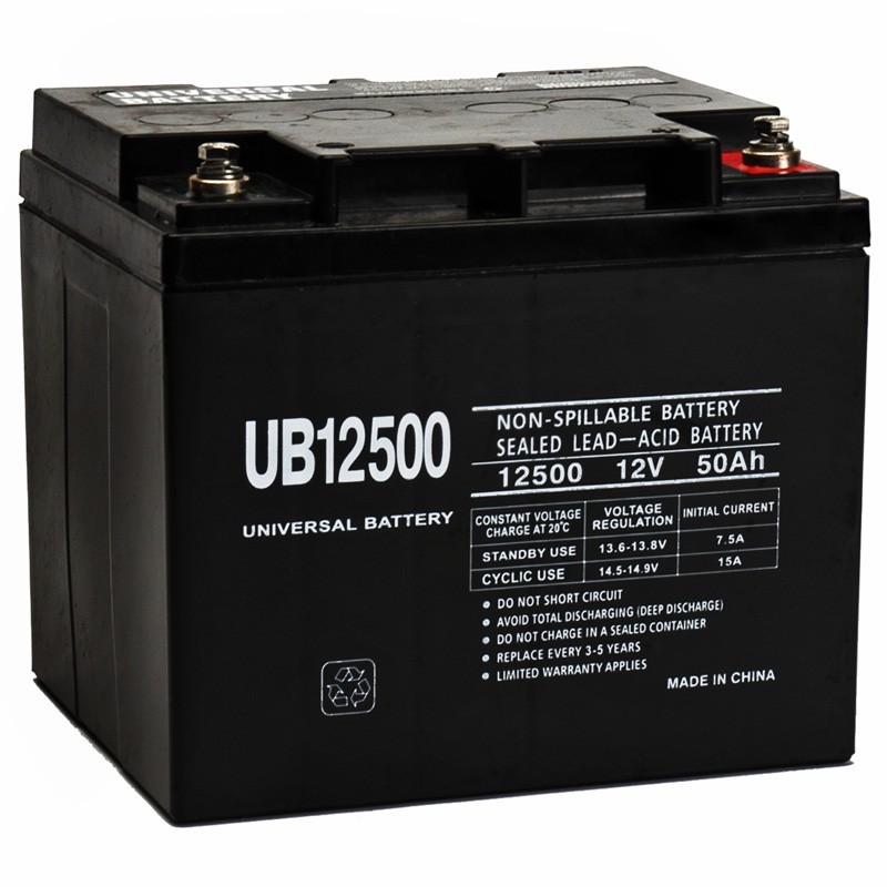 12 volt 50 ah 1200 watt ub12500 power cell sealed car audio battery. Black Bedroom Furniture Sets. Home Design Ideas