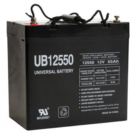 12 volt 55 ah 1400 watt ub12550 power cell sealed car. Black Bedroom Furniture Sets. Home Design Ideas