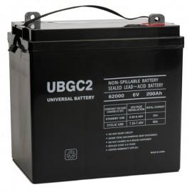 6v 200ah AGM Solar Battery replaces 225ah Vision 3FM225S-AM