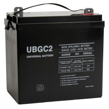 6v 200ah AGM Solar Battery replaces 170ah BB Battery BPL170-6