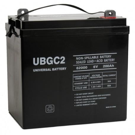 6v 200ah AGM Solar Battery replaces 210ah Leoch GF6210, GF 6210