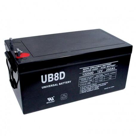 12 Volt 250Ah 8D Solar Battery replaces 267.5ah Leoch LPL12-250