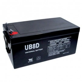 12 Volt 250a 8D Solar Battery replaces 245ah Deka 8A8DLTP, 8A8D LTP
