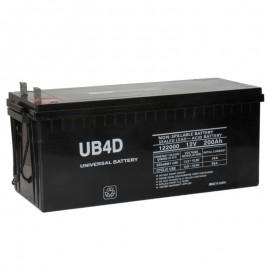 12 Volt 200ah 4D Solar Battery replaces Yuasa NP200-12, NP 200-12