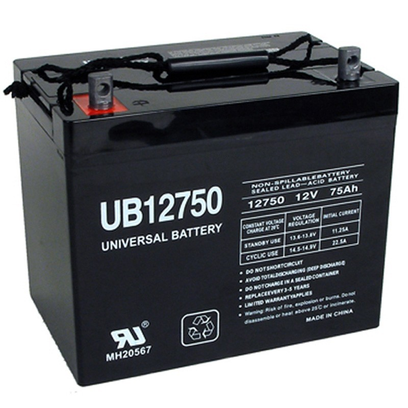 12 Volt 75 Ah Solar Battery Replaces C Amp D Powercom Vrs12 75c