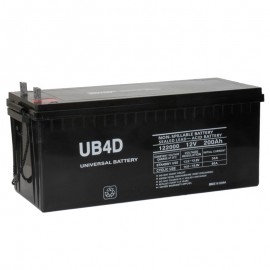 12 Volt 4D SCADA Solar Battery replaces 198ah Deka 8A4DLTP, 8A4D LTP