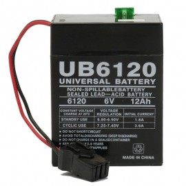 6 Volt UB6120 TOY Battery replaces Rhino SLA12-6A for Power Wheels