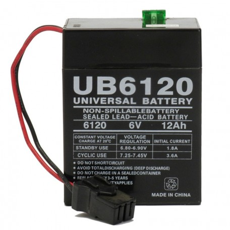 6V 12ah Universal UB6120TOY upgrades Power Wheels Red Type A Battery