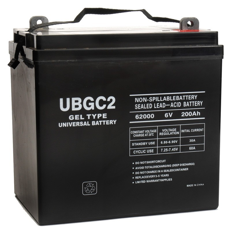 ub gc2 gel replaces trojan 12 volt 189 ah 6v gel solar battery. Black Bedroom Furniture Sets. Home Design Ideas