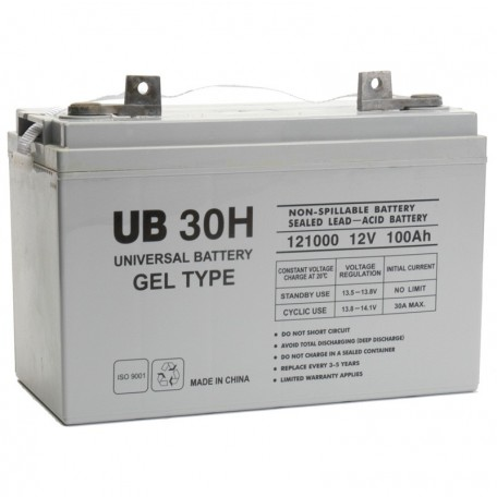 UB-30H GEL replaces Werker 12v 100 ah WKG12-100J Wheelchair Battery