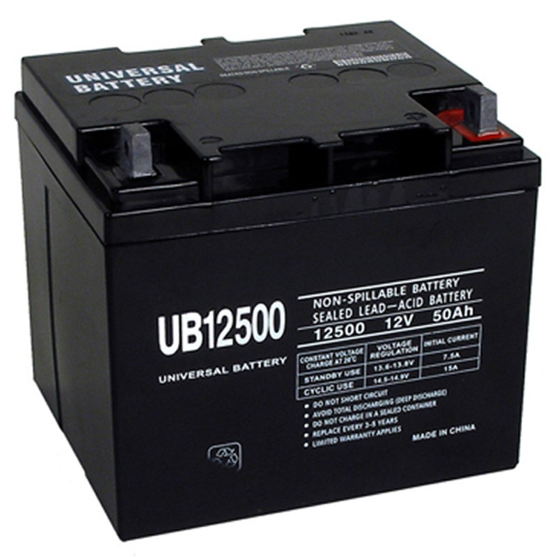 12 volt 50 ah wheelchair battery replaces 40ah interstate dcm0040. Black Bedroom Furniture Sets. Home Design Ideas