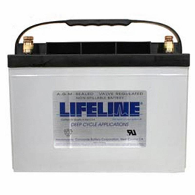 12 volt 100 ah group 27 sealed agm concorde lifeline gpl 27t deep cycle marine battery. Black Bedroom Furniture Sets. Home Design Ideas