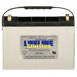 12v 95ah Concorde Lifeline GPL-2700T Marine Starting Battery