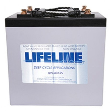 2v 660ah Concorde Lifeline GPL-4CT-2V Deep Cycle RV Battery