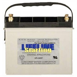 12v 75ah Concorde Lifeline GPL-2400T RV Starting Battery