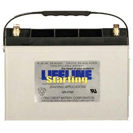 12v 95ah Concorde Lifeline GPL-2700T RV Starting Battery