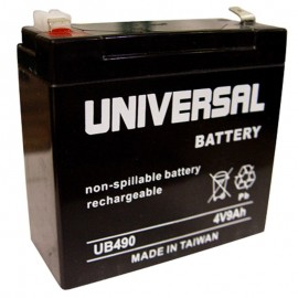 4 Volt 9 ah (4v 9a) UB490 Emergency Lighting Battery