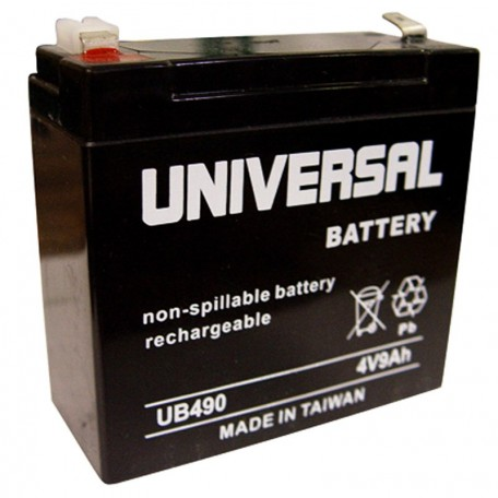 4 Volt 9 ah (12v 9a) UB490 Emergency Lighting Battery