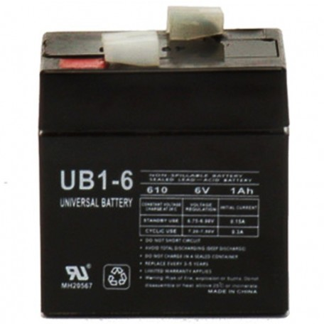 6 Volt 1 ah UB610 Emergency Lighting Battery