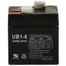6 Volt 1 ah UB1-6 Emergency Lighting Battery