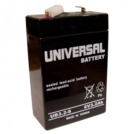 6 Volt 3.2 ah (6v 3.2a) UB632 Emergency Lighting Battery