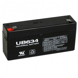 6 Volt 3.4 ah (6v 3.4a) UB634 Emergency Lighting Battery