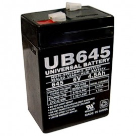 6 Volt 4.5 ah UB645 Emergency Lighting Battery replaces 4ah