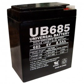 6 Volt 8.5 ah UB685 Emergency Lighting Battery replaces 9 ah