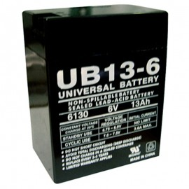6 Volt 13 ah (12v 13a) UB6130 Emergency Lighting Battery